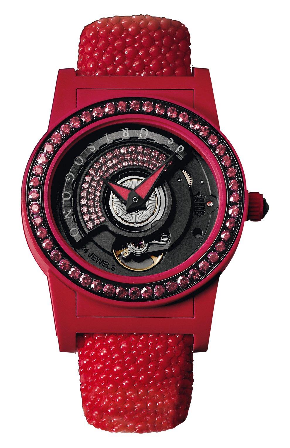 Женские часы red DE GRISOGONO черного цвета, арт. TONDO BY NIGHT S08   Фото 1