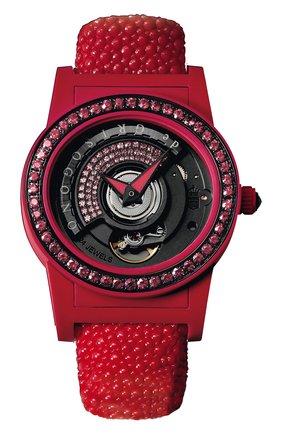 Женские часы red DE GRISOGONO черного цвета, арт. TONDO BY NIGHT S08 | Фото 1