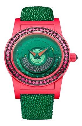 Женские часы red green DE GRISOGONO черного цвета, арт. TONDO BY NIGHT S08 GV | Фото 1