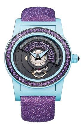 Женские часы turquoise purple DE GRISOGONO черного цвета, арт. TONDO BY NIGHT S10 | Фото 1