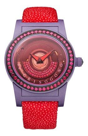 Женские часы purple red DE GRISOGONO черного цвета, арт. TONDO BY NIGHT S11 GR | Фото 1
