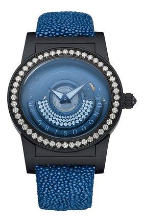 Женские часы black blue DE GRISOGONO черного цвета, арт. TONDO BY NIGHT S15 GB | Фото 1