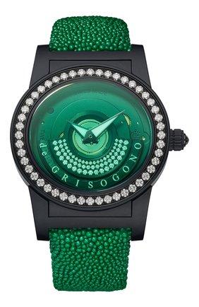 Женские часы black green DE GRISOGONO черного цвета, арт. TONDO BY NIGHT S15 GV | Фото 1