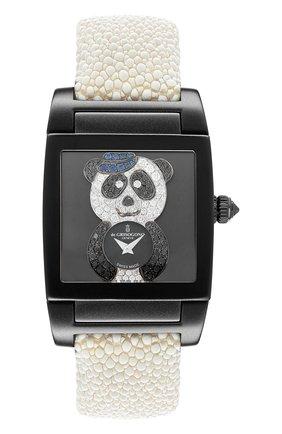 Женские часы uno crazymals panda DE GRISOGONO черного цвета, арт. UNO CRAZYMALS N02 | Фото 1