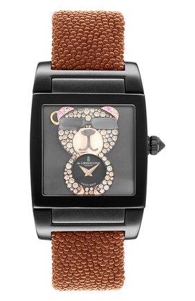 Женские часы uno crazymals bear DE GRISOGONO черного цвета, арт. UNO CRAZYMALS N07 | Фото 1