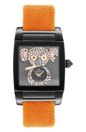 Женские часы uno crazymals koala DE GRISOGONO черного цвета, арт. UNO CRAZYMALS N08 | Фото 1