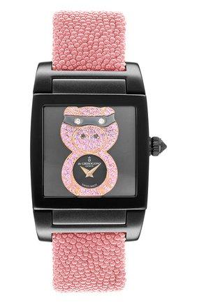 Женские часы uno crazymals piggy DE GRISOGONO черного цвета, арт. UNO CRAZYMALS N09 | Фото 1