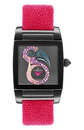 Женские часы uno crazymals flamingo DE GRISOGONO черного цвета, арт. UNO CRAZYMALS N10 | Фото 1