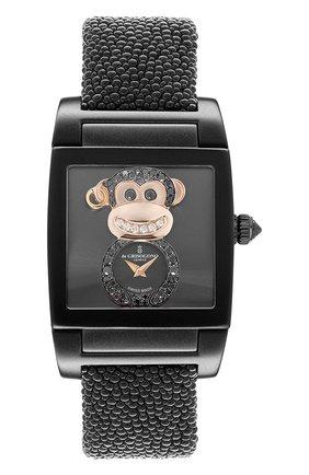 Женские часы uno crazymals monkey DE GRISOGONO черного цвета, арт. UNO CRAZYMALS N11 | Фото 1