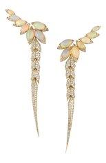 Женские серьги STEPHEN WEBSTER бесцветного цвета, арт. 3017907 | Фото 1 (Материал сплава: Желтое золото; Драгоценные камни: Бриллианты)