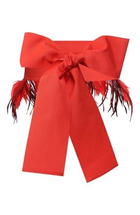 Женский текстильный пояс SARA ROKA кораллового цвета, арт. BELT F/C10-SS20/K1   Фото 1