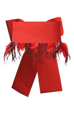Женский текстильный пояс SARA ROKA кораллового цвета, арт. BELT F/C10-SS20/K1   Фото 2