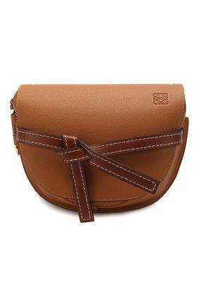 Женская сумка gate small LOEWE светло-коричневого цвета, арт. 321.12.T20   Фото 1