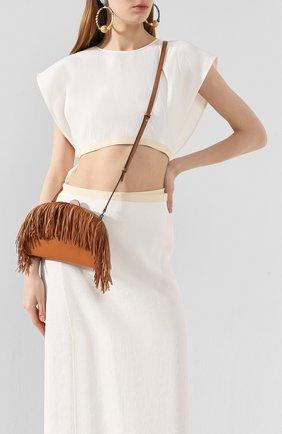 Женская сумка heel LOEWE коричневого цвета, арт. 126.54AC06   Фото 2
