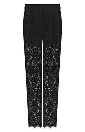 Женские брюки DOLCE & GABBANA черного цвета, арт. FTBP8T/HLM0M | Фото 1