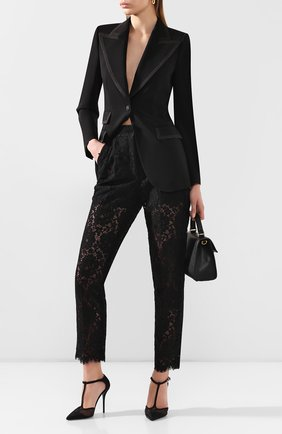 Женские брюки DOLCE & GABBANA черного цвета, арт. FTBP8T/HLM0M | Фото 2