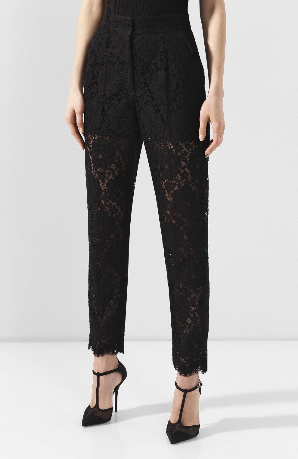 Женские брюки DOLCE & GABBANA черного цвета, арт. FTBP8T/HLM0M | Фото 3
