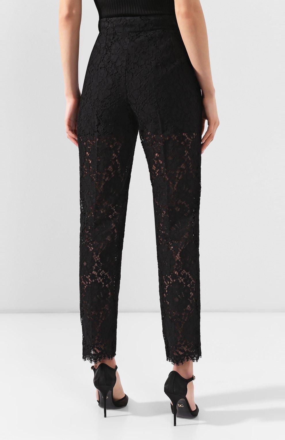 Женские брюки DOLCE & GABBANA черного цвета, арт. FTBP8T/HLM0M | Фото 4