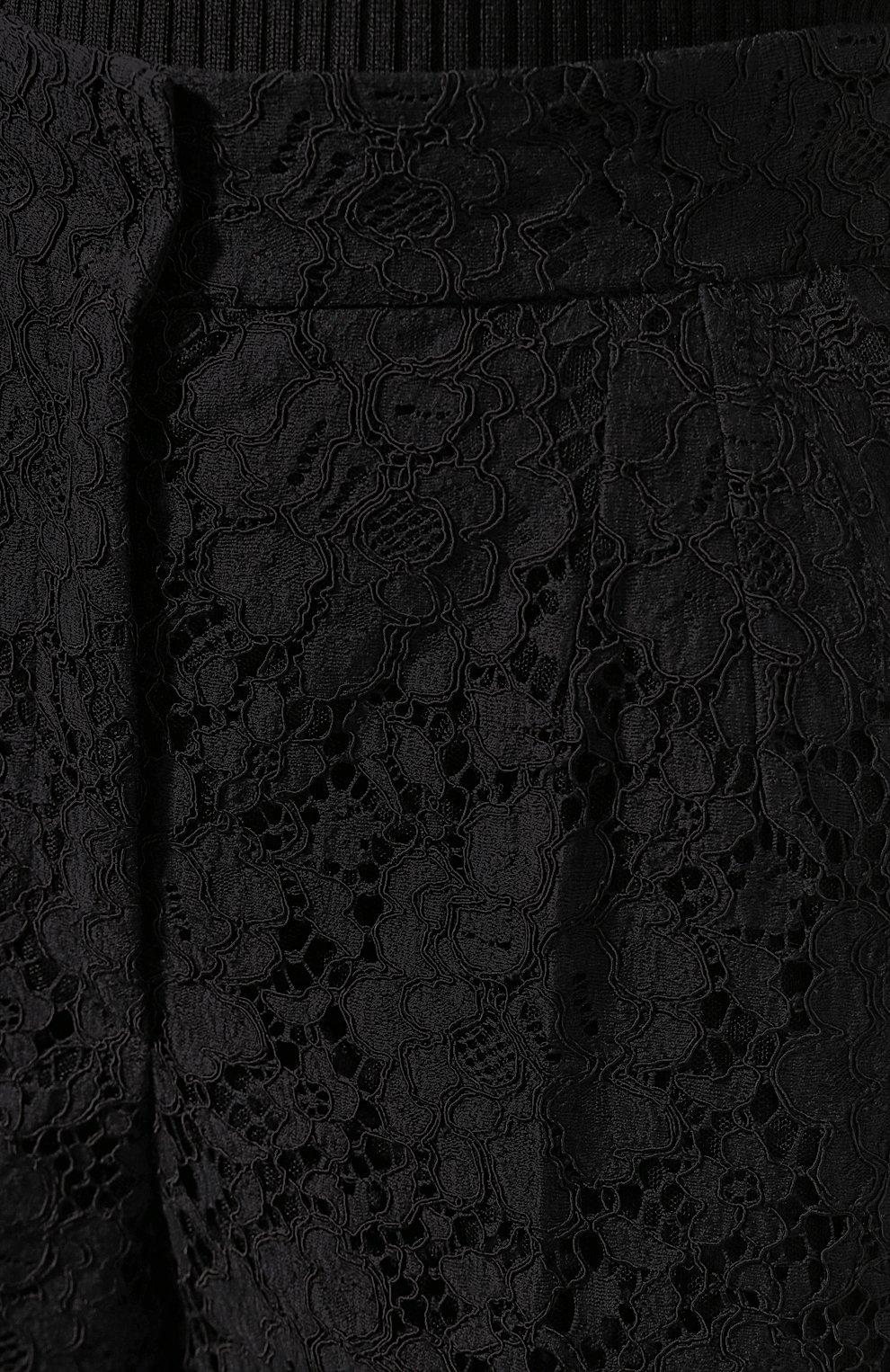 Женские брюки DOLCE & GABBANA черного цвета, арт. FTBP8T/HLM0M | Фото 5
