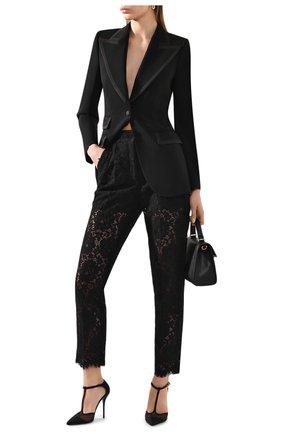 Женский шерстяной жакет DOLCE & GABBANA черного цвета, арт. F29EFT/FUCC6 | Фото 2