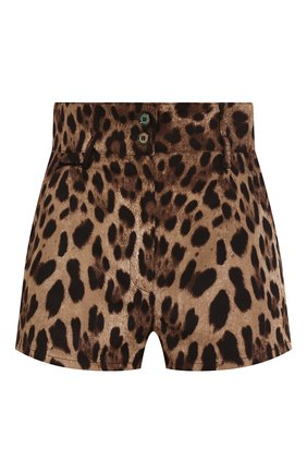 Женские хлопковые шорты DOLCE & GABBANA коричневого цвета, арт. FTBULT/FSFJ0 | Фото 1