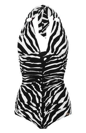 Женский слитный купальник DOLCE & GABBANA черно-белого цвета, арт. 09A44J/FSGTQ | Фото 1
