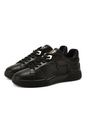 Женские кожаные кроссовки TOD'S черного цвета, арт. XXW31C0CU20JUS | Фото 1