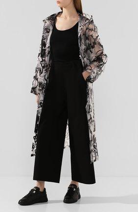 Женские кожаные кроссовки TOD'S черного цвета, арт. XXW31C0CU20JUS | Фото 2