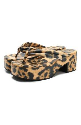 Женские кожаные мюли DRIES VAN NOTEN леопардового цвета, арт. WS27/167/H20/QU505 | Фото 1