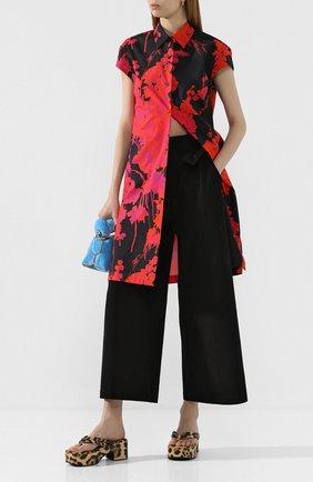 Женские кожаные мюли DRIES VAN NOTEN леопардового цвета, арт. WS27/167/H20/QU505 | Фото 2