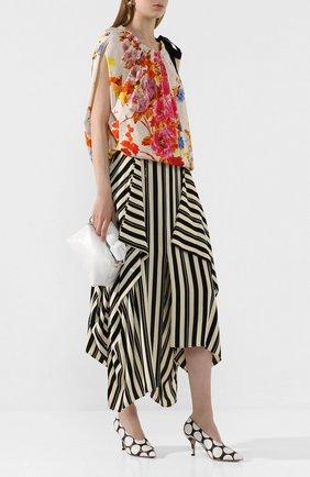 Женская кожаные туфли DRIES VAN NOTEN черно-белого цвета, арт. WS27/187/H80/QU510 | Фото 2