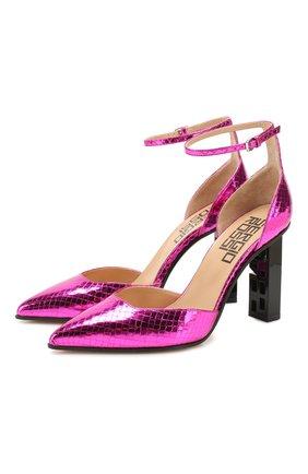 Женская кожаные туфли super heel SERGIO ROSSI фуксия цвета, арт. A89930-MCAL09 | Фото 1