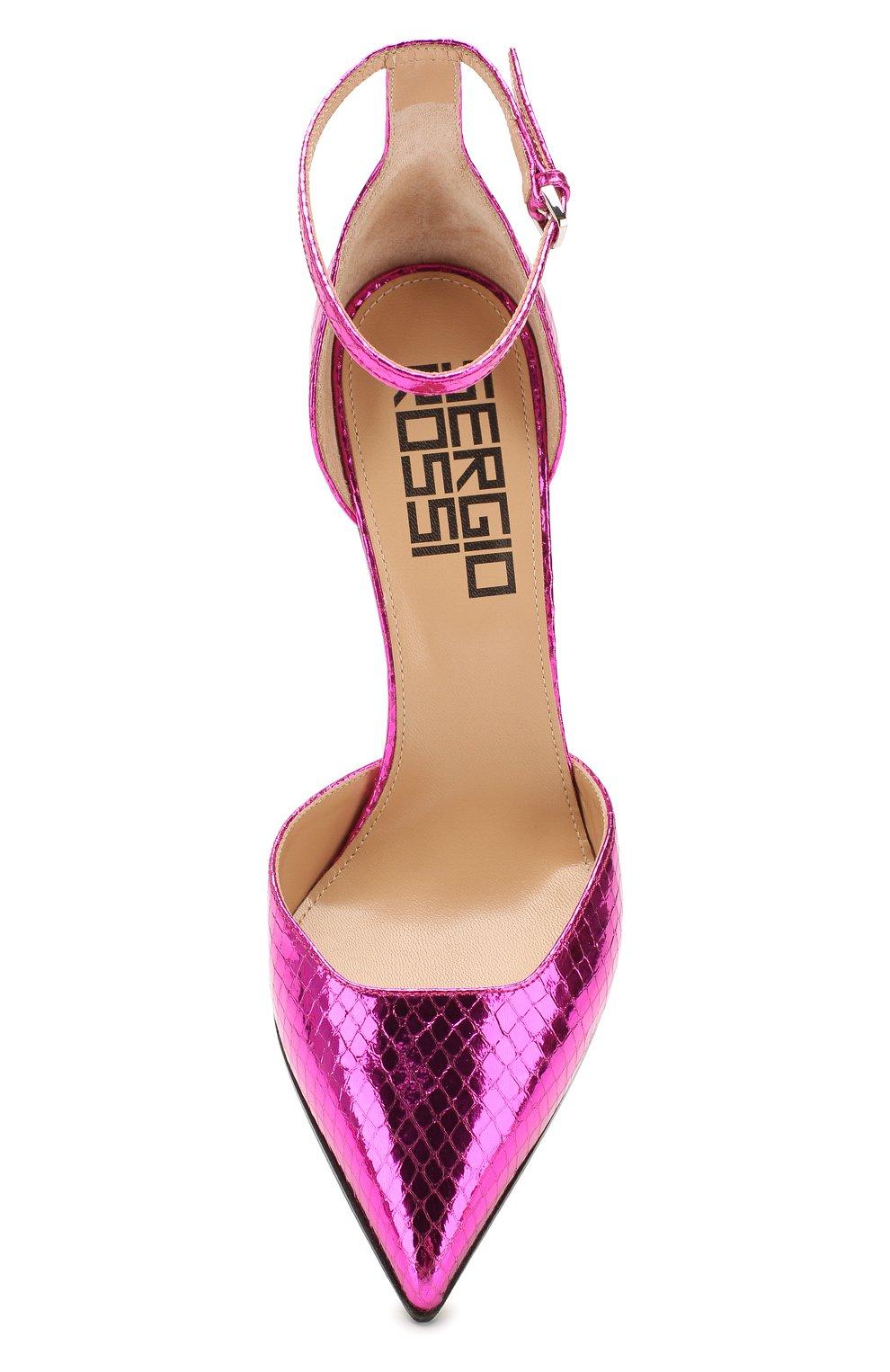 Женские кожаные туфли super heel SERGIO ROSSI фуксия цвета, арт. A89930-MCAL09 | Фото 5