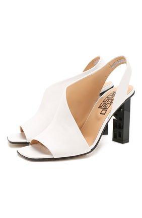 Женские кожаные босоножки super heel SERGIO ROSSI белого цвета, арт. A89950-MAGN05 | Фото 1