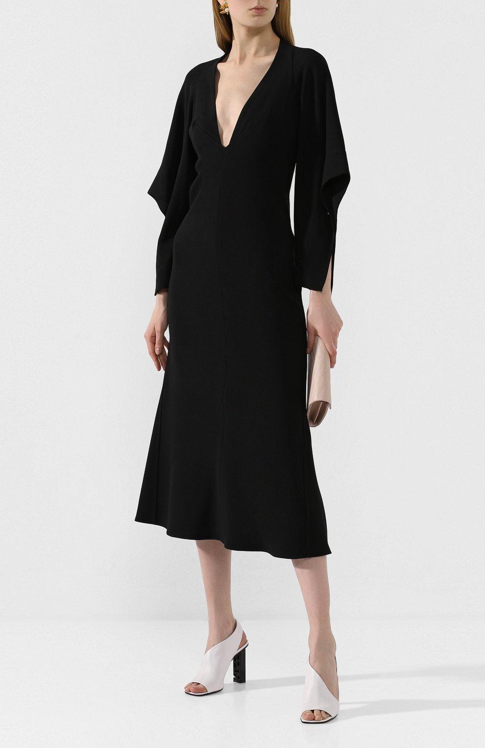 Женские кожаные босоножки super heel SERGIO ROSSI белого цвета, арт. A89950-MAGN05   Фото 2