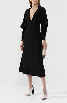 Женские кожаные босоножки super heel SERGIO ROSSI белого цвета, арт. A89950-MAGN05 | Фото 2