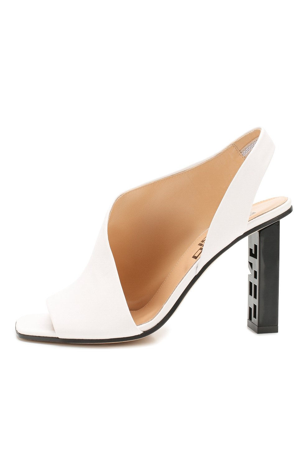 Женские кожаные босоножки super heel SERGIO ROSSI белого цвета, арт. A89950-MAGN05   Фото 3