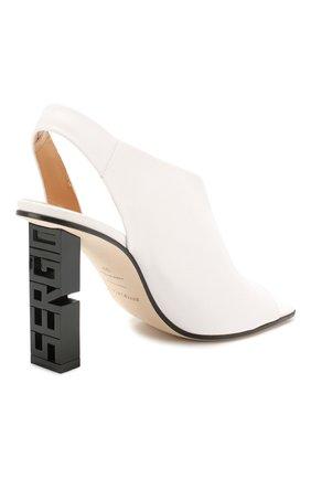 Женские кожаные босоножки super heel SERGIO ROSSI белого цвета, арт. A89950-MAGN05   Фото 4