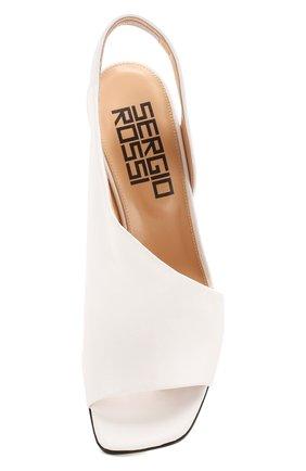 Женские кожаные босоножки super heel SERGIO ROSSI белого цвета, арт. A89950-MAGN05   Фото 5