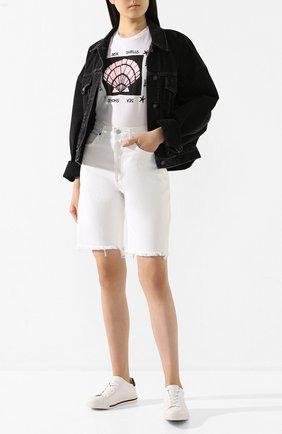 Женские кожаные кеды xtra RENE CAOVILLA черно-белого цвета, арт. C09061-015-CAP1V214 | Фото 2