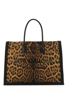 Женская сумка-шопер noe SAINT LAURENT леопардового цвета, арт. 499290/H9L4W | Фото 1