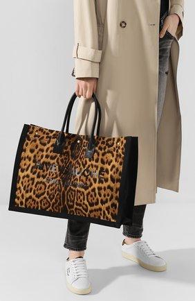 Женская сумка-шопер noe SAINT LAURENT леопардового цвета, арт. 499290/H9L4W | Фото 2