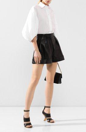 Женские кожаные босоножки ALEXANDER MCQUEEN черного цвета, арт. 621839/WHXZ7   Фото 2