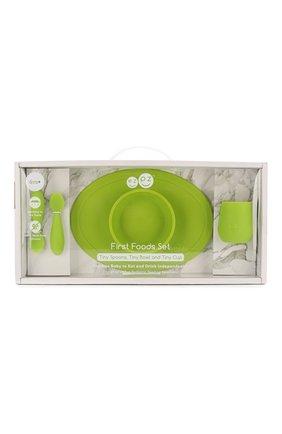 Детского набор из 4-х предметов EZPZ зеленого цвета, арт. PCFFG001 | Фото 1