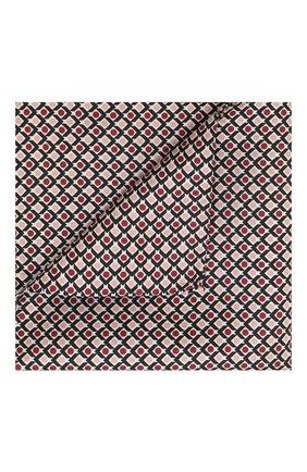 Мужской шелковый платок BOSS бордового цвета, арт. 50434810 | Фото 1