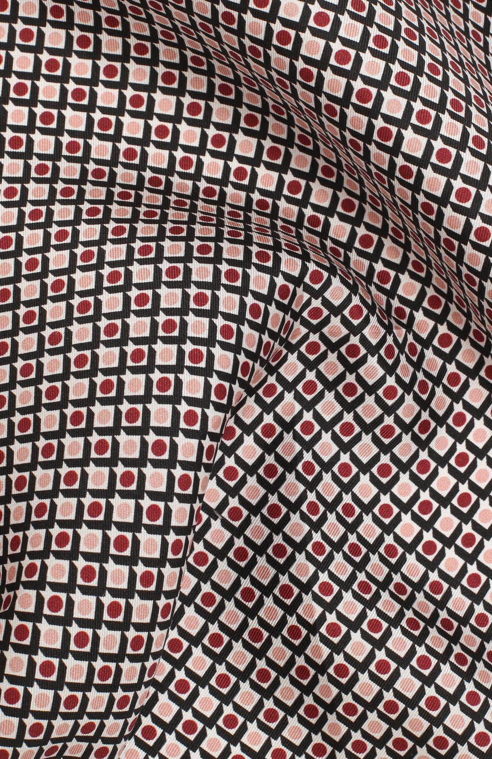 Мужской шелковый платок BOSS бордового цвета, арт. 50434810 | Фото 2