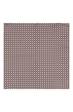 Мужской шелковый платок BOSS бордового цвета, арт. 50434810 | Фото 3