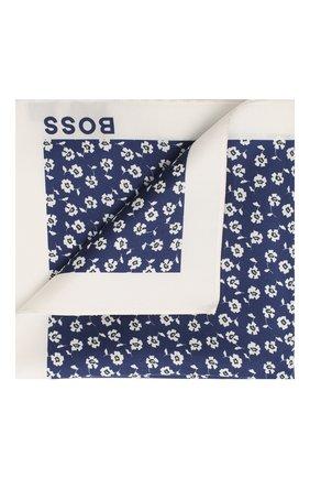 Мужской шелковый платок BOSS синего цвета, арт. 50434758 | Фото 1