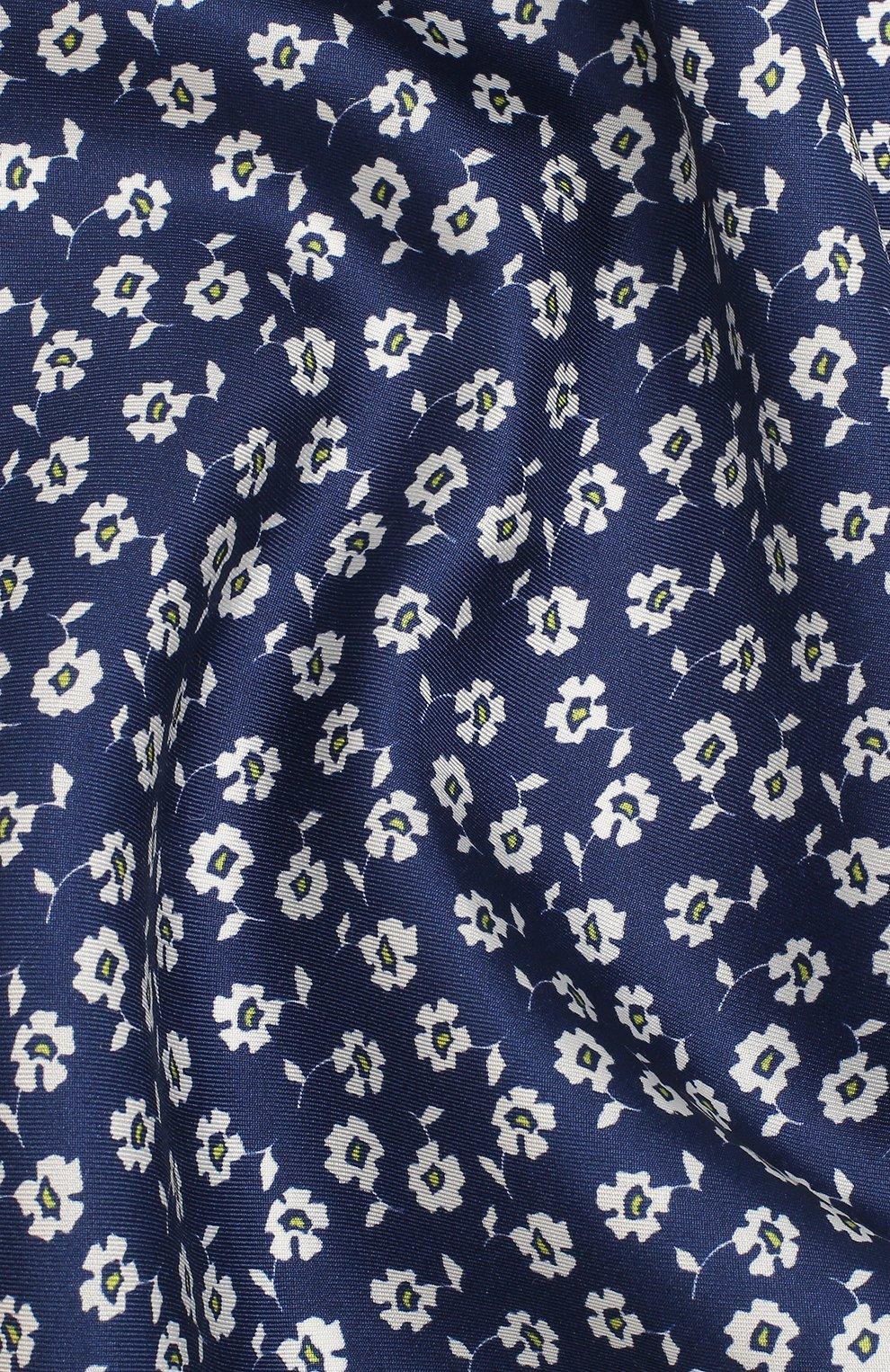 Мужской шелковый платок BOSS синего цвета, арт. 50434758 | Фото 2
