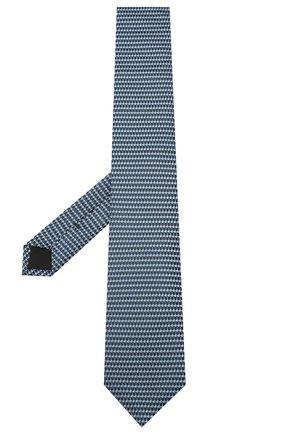 Мужской шелковый галстук BOSS темно-синего цвета, арт. 50434399 | Фото 2